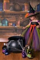 BKLD Children Girls Kid Halloween Costumes Fancy Dress Up Cosplay Witch Magic Bowknot Dancing Dress Outfits
