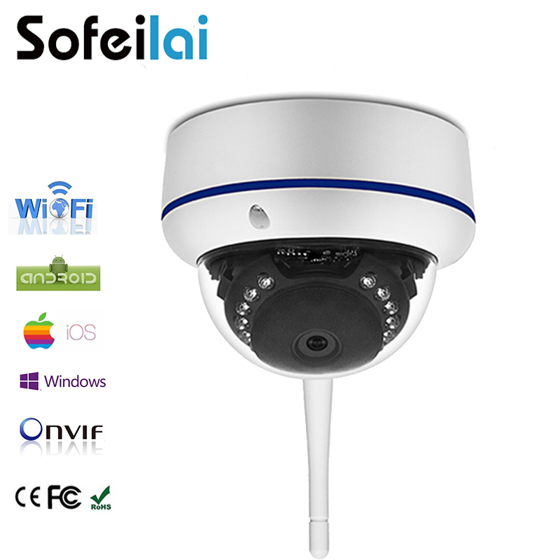 Фото 1080P HD Wireless Dome IP Camera CCTV WiFi infrared night vision onvif CCTV camara mini IR-CUT p2p surveillance P2P cameras