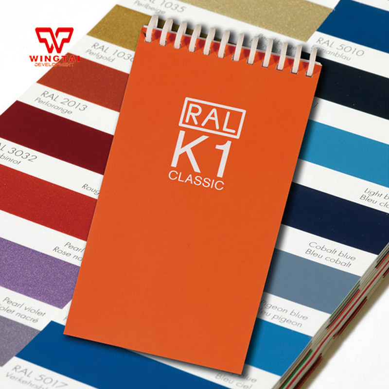 RAL K1 210 Kinds Colors For Paint Coating Classic Color Swatches 5.2x1.5cm Color Chipes ral swatch