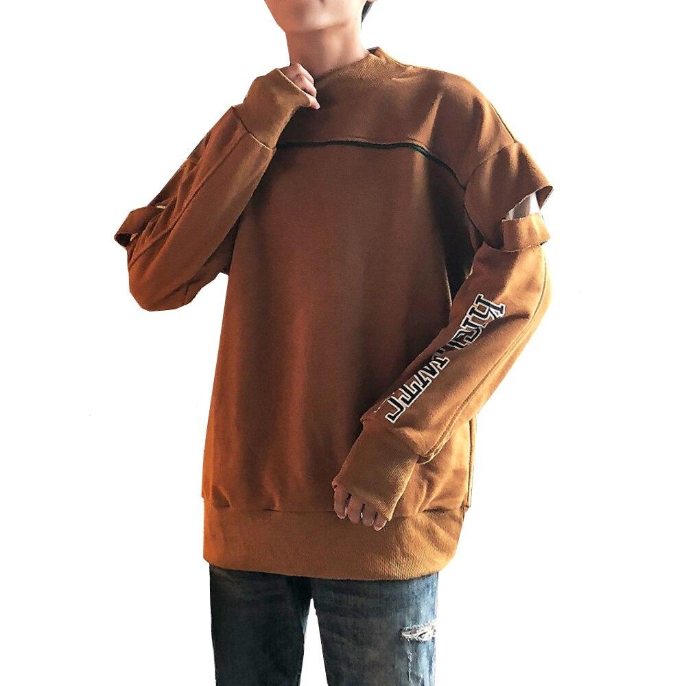 2018 sweat hommes décontracté surdimensionné drôle mode rue porter mâle lâche trou jeunesse pull vêtements grande taille M-5XL
