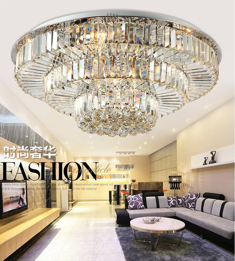 New arrive Hotel restaurant round LED crystal ceiling lights for Big restaurant foyer decoration ceiling light crystal lamps z best price european luxury golden round crystal chandeliers light home foyer lamps hotel restaurant clubs bedroom droplights