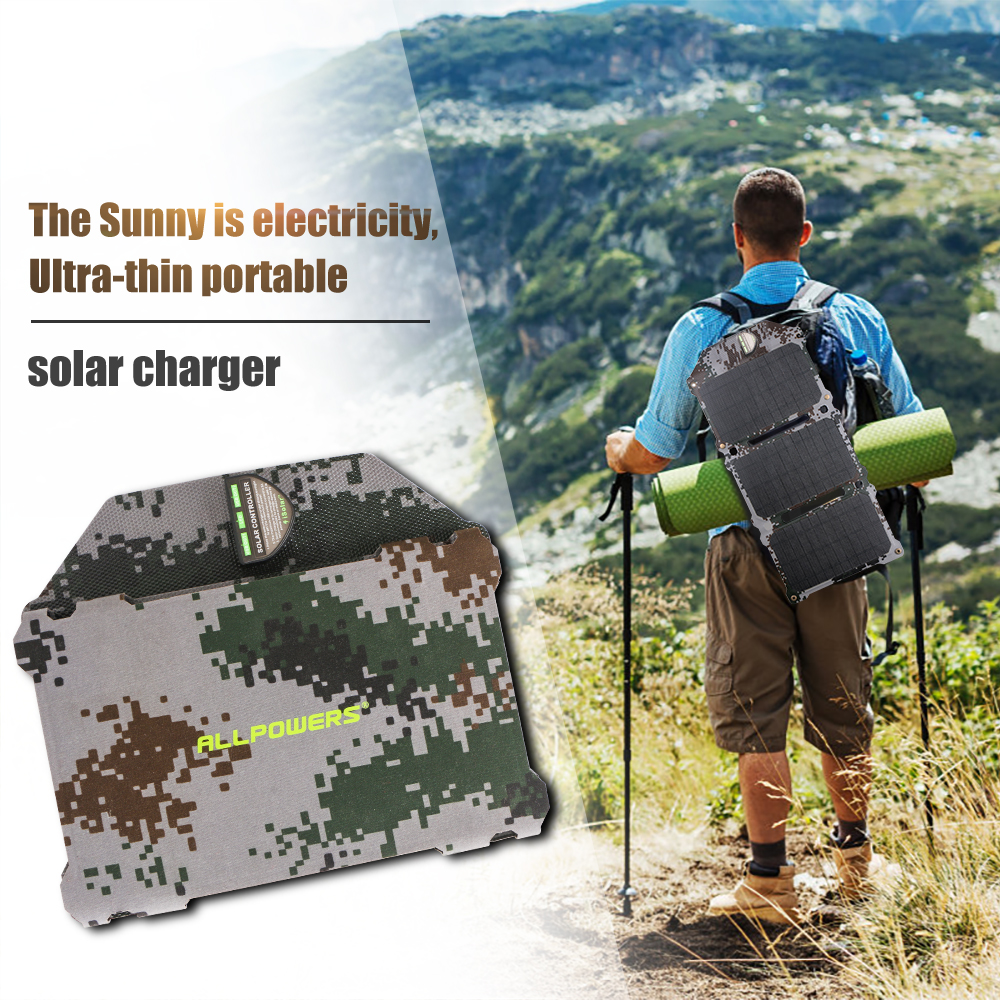 Image 5 - ALLPOWERS Newest 21W Solar Panel Solar Cells Dual USB Solar Charger Batteries Phone Charging for Sony Phone iPad-in Solar Cells from Consumer Electronics