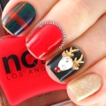 10pcs Cute Rudolph the Reindeer Festive Christmas Charm 3D Alloy Gold Nail Art Decorations MC4