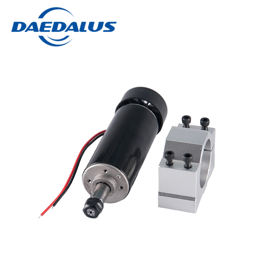 CNC spindle motor 0.5kw Air Cooled Spindle Motor+52mm spindle clamp for Engraving cnc Milling machine 600w high speed spindle motor air cooled motor dc spindle collet for cnc engraving machine drilling 1pcs