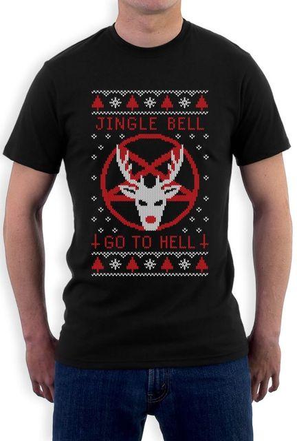 Verano impresión camiseta del equipo de los hombres Masajeadores de cuello  feo Navidad suéter jingle Bell fce1810d93dd6