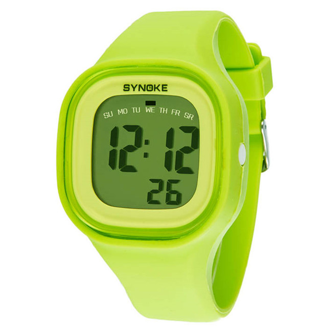 Kids Children Girl Boy Watches Wrist Watches Clock Silicone LED Light Digital Sp