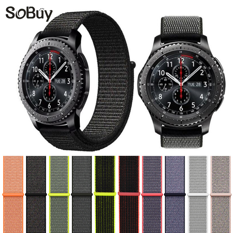 So buy cozy sport woven nylon loop strap for Samsung Gear S3 band Samsung wrist bracelet watch belt fabric nylon watchband 22mm fashion woven nylon watch band loop strap for samsung galaxy watch 42 46mm colorful wrist band strap for samsung sports straps