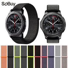 So buy cozy sport woven nylon loop strap for Samsung Gear S3 band Samsung wrist bracelet watch belt fabric nylon watchband 22mm(China)