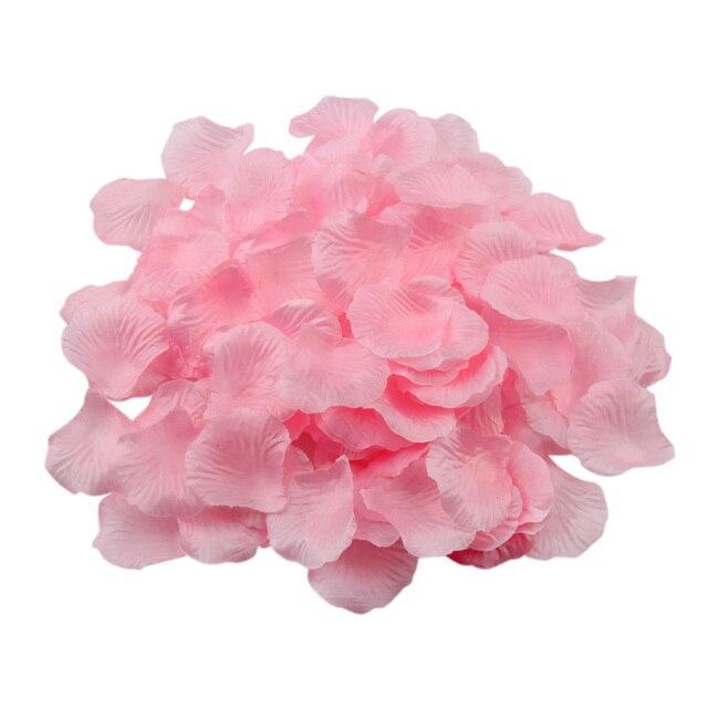 500pcs/set Wedding Decoration Rose Petals Romantic Artificial Silk Flower Petals for Party Decorations
