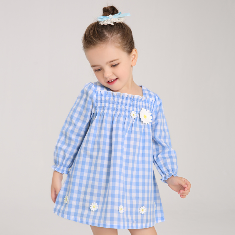 Simyke Girls Plaid Dress Tutu Dresses With Long Sleeve For Little Girl 2018 New Baby Girls Clothing Kids Children Clothes W8102 girl dresses winter kids dress for girls flower baby girl dresses clothes long sleeve beautiful children dresses girls new 2017