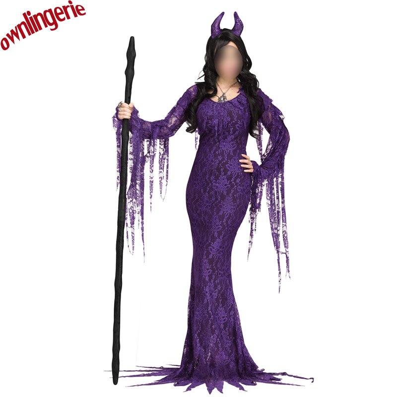 Fiesta de Disfraces de fantasía diablo vaca cosplay vestido cordón ...