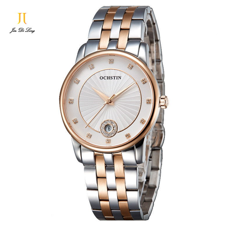Brand OCHSTIN Classic Fashion Casual Dress Watch Women Elegant Quartz Diamond Wrist Watches Ladies Luxury Wristwatch Calendar