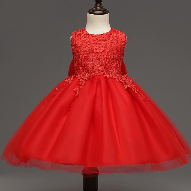 Embroidered Princess Dress for Flower Girl Fluffy Tutu Wedding Party Dress  High-end Sleeveless Little Girls Dresses Summer 2017 ec6d15ec9fe6