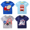 2017 Kids Clothes Cartoon Auto Print Cotton Short-sleeved Boys t shirts Train/Car/Truck Girls Summer T-shirt Children Tops Tees
