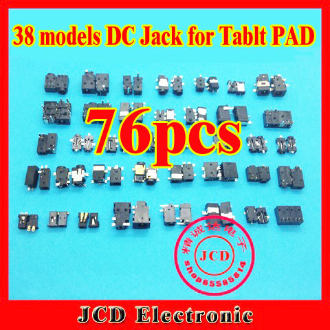 38models,76pcs/lot,DC Power Jack,DC Socket for IBM/DELL/Lenovo/Samsung/Acer/Asus/SONY/Toshiba/HP Tablet PC PAD MID free shipping 20 pcs lot new original dc power jack connector for asus acer hp msi haier toshiba series 5 5 2 5mm socket