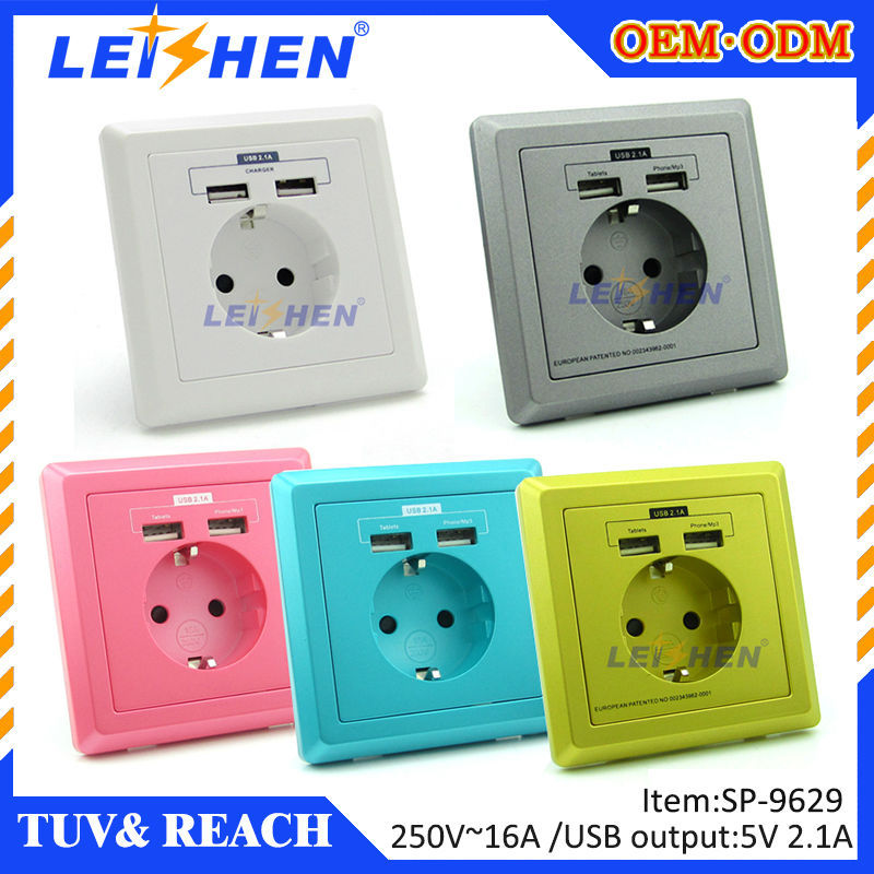 Groovy High Quality Euro 16 Amp Usb Wall Socket For Poland Norway Wiring Cloud Hisonuggs Outletorg