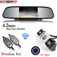 Koorinwoo 4 3inch Mirror Monitor 800 480 HD Car Rear View Camera BackUp Night Vision 8