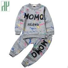 От 0 до 2 лет Одежда для маленьких девочек; сезон зима-весна; Модный комплект одежды с принтом граффити для новорожденных мальчиков; комплекты одежды для девочек; комплекты одежды для младенцев