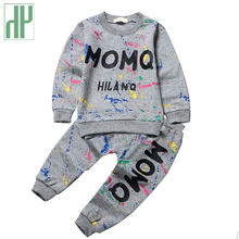 Baby Girl Clothes 2016 Spring Fashion printing graffiti Newborn baby boy clothes Set Infant Long Sleeve Clothing 3-24M