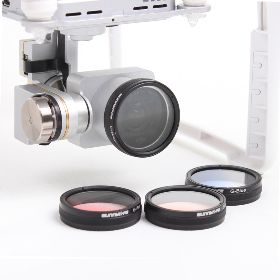 DJI Phantom 3 4 Accessories Graduated Filters Grey / Red / Orange / Blue Lens Filter for Phantom 4 3 Professional / Standard Cam