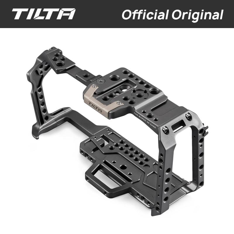 TA-T01-A-G Gaiola Câmera todo o conjunto Completo de acessórios para BMPCC Tilta Câmera 4K Alça Superior De Madeira Alça Lateral F970 Bateria