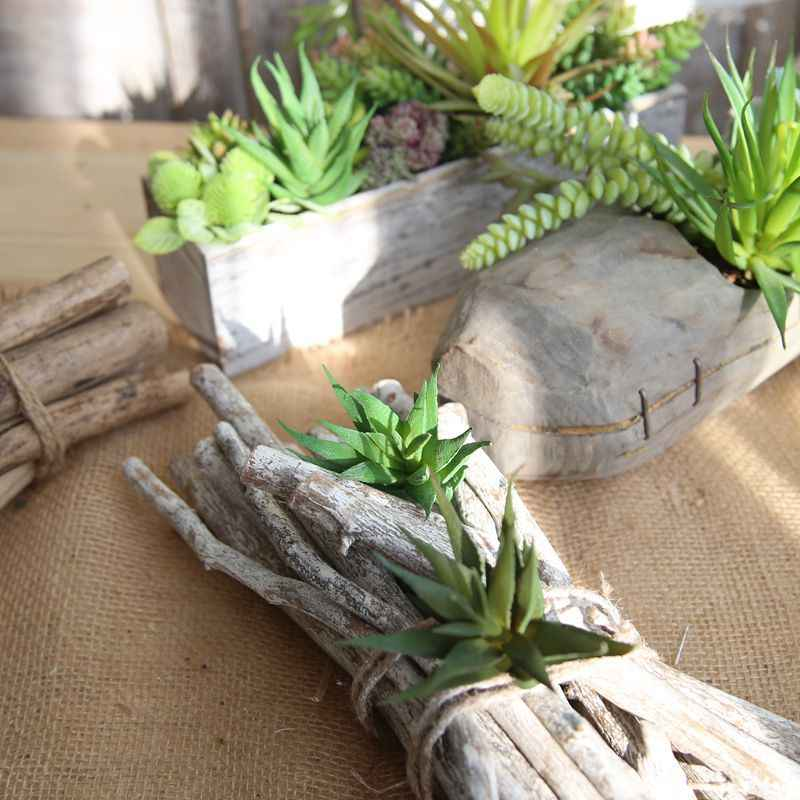 Artificial Dried Flowers Striped aloe vera flower micro landscape indoor  plant wall succulent garland decoration DROPSHIP AUG13