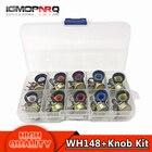 10PCS WH148 potentiometer kit B1K B2K B5K B10K B20K B50K B100K B250K ohm 3PIN 15MM Knob AG2 15x17mm EACH 1pcs