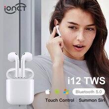 IONCT i12 СПЦ 5,0 Bluetooth беспроводные наушники для стерео Спорт гарнитура True Touch безпроводные наушники блютуз со смартфонами через наушники bluetooth