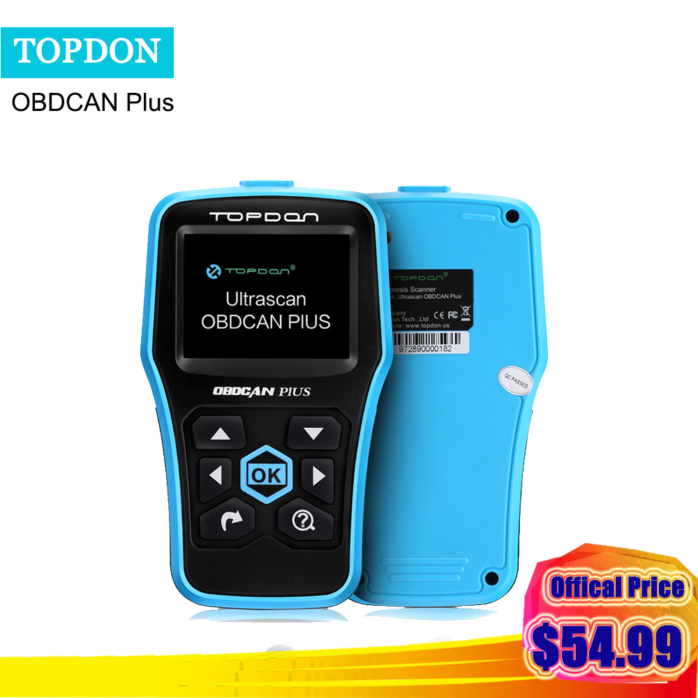 Topdon Ultrascan OBDCAN Plus 2.0 OBD 2 code reader Scanner OBDII Auto Diagnostic Tool same functions as al519 scan for cars' dtc цена и фото