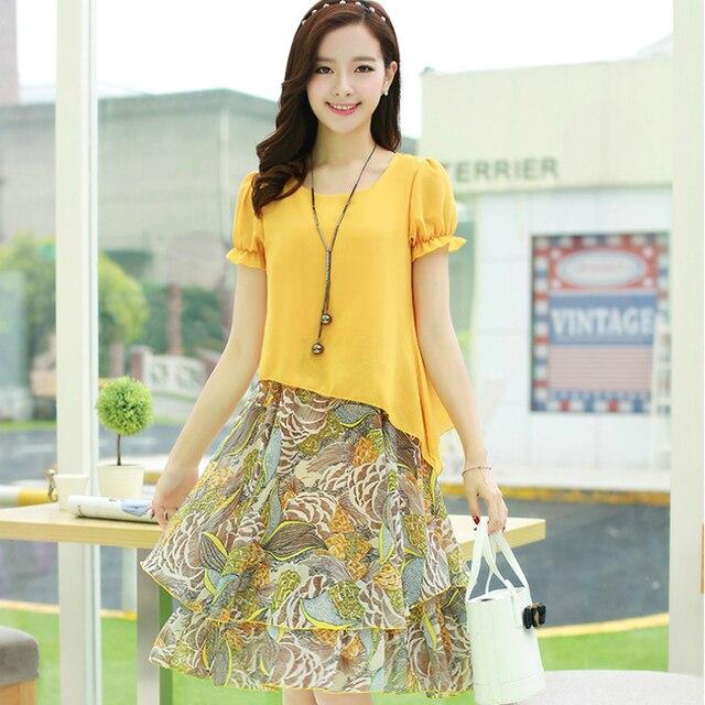 Women Dress Suits 2 Piece Plus Size Chiffon Dress Woman Sexy Summer