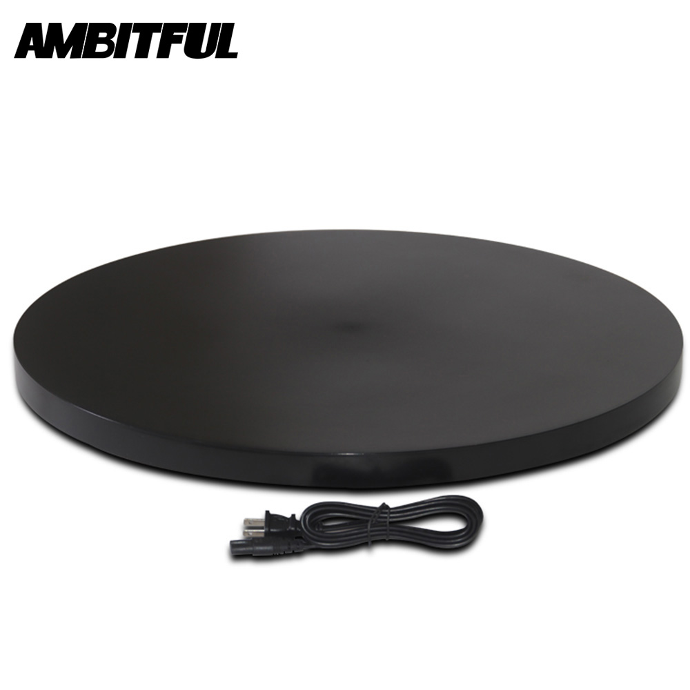 Black 60cm 360 Degree Rotating Display Stand Turntable for Photography Load 80kg