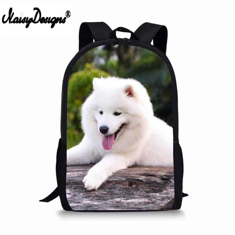 Backpack Childrens School Bags For Teenage Girls Samoyed Dog Schoolbags Kids Bookbag 3D Cartoon Animal Backpack Mochila