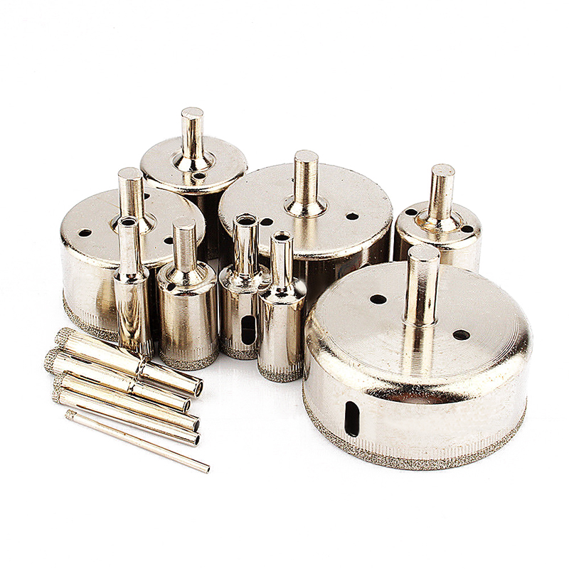 14pc/set New Diamond Drill Bit Tile Glass Hole Marble Glass Hole Cutter Ceramic Hole Saw Set 3-70mm