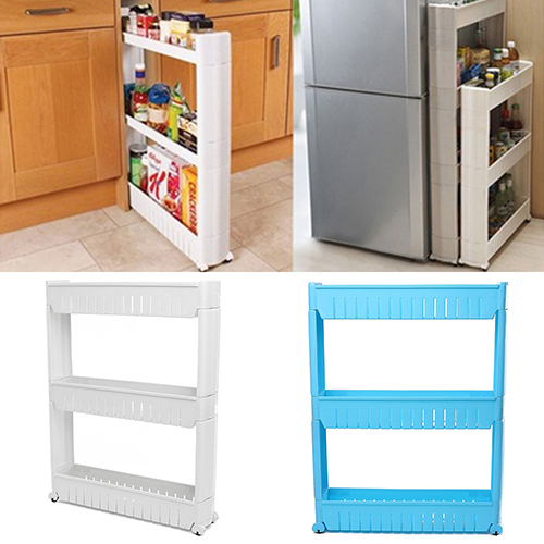 Slide Out Storage Tower Folding 3 Tier Rolling Castor Kitchen Trolley Spice  Rack On Aliexpress.com | Alibaba Group