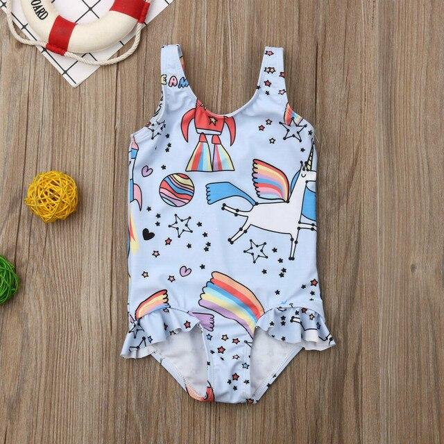 0-5T Kids One-piece Swimsuit Toddler Kids Baby Girls Cartoon Bikini Swimwear Swimsuits Bathing Suit Beachwear | healthy feet socks