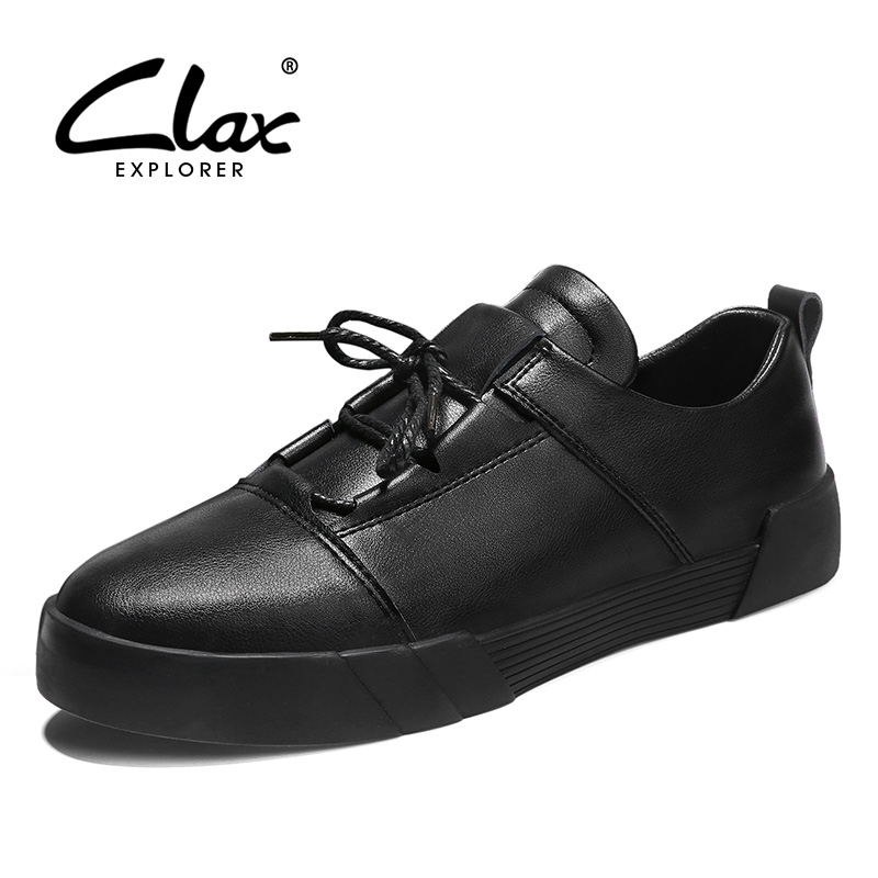 CLAX Men's Casual Shoes 2018 Spring Summer Fashion Leather Footwear Male Leisure Shoe Designer Flat Walking Shoe Soft clax men flat casual shoes 2018 spring summer fashion leisure shoe male suede leather loafer slip on breathable walking footwear