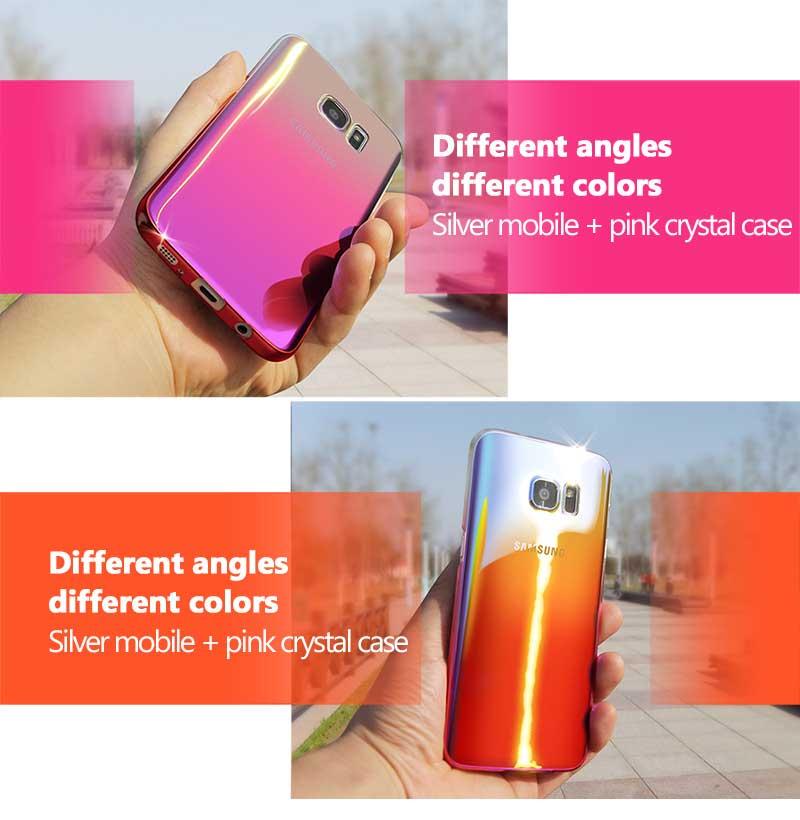 Kolorowe case do samsung galaxy s7 edge s8 plus s8 case gradientu kolor pc mocno plecy pokrywa dla samsung s8 s7 krawędzi case artisome 8