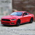 New arrival KT 1/24 Scale USA 2015 Ford Mustang GT Diecast Metal Pull Back Car Model Toy F Kids gift Collection Decoration