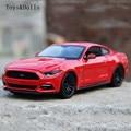 Nueva llegada KT 1/24 Escala Diecast EE. UU. 2015 Ford Mustang GT Metal Tire Hacia Atrás Del Coche de Juguete Modelo de F Niños regalo Colección de La Decoración