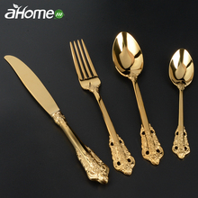 Vintage Cutlery Set 4 Pics Palace Retro Style Tableware Kits Spoon Knife Fork dinnerware Dinner Service pics