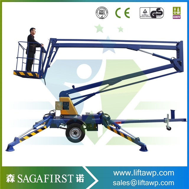 360 degree rotary electric or diesel or trailer articulating boom ...