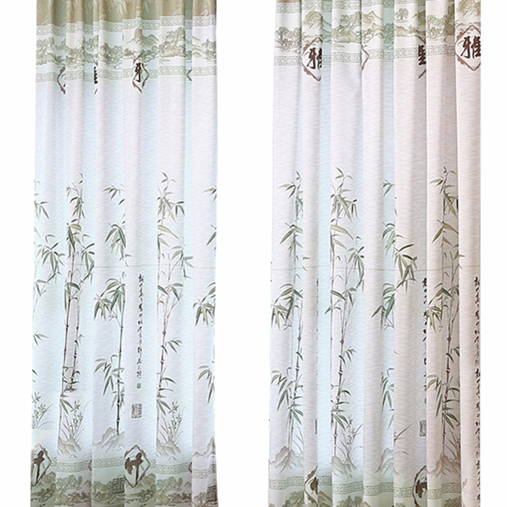 Romantic bamboo curtain yarn tulle bedroom ready made for Cortina screen