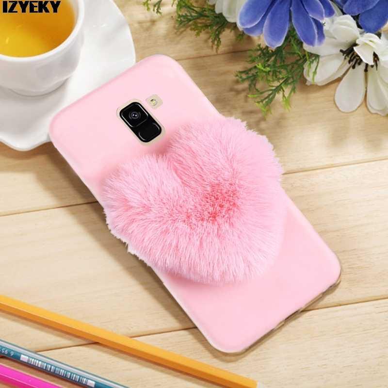 IZYEKY Para Samsung J4 2018 J6 2018 corações de Silicone Caso Pele Macia Para Samsung Galaxy J4 J8 Plus J6 J8 2018 S9 plus S8 S7 S6edge