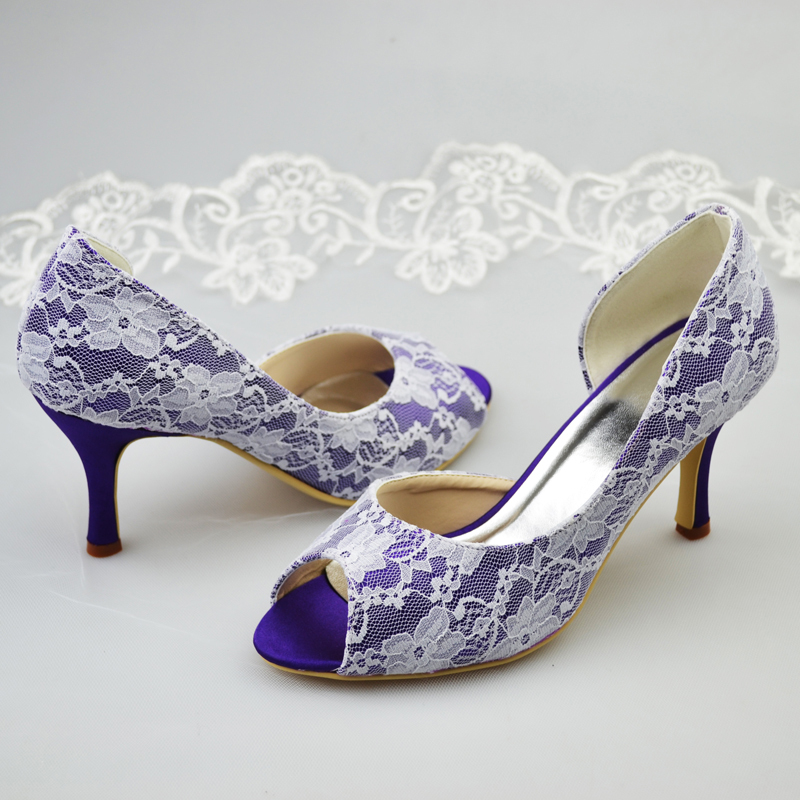 Aliexpress.com : Buy 2014 New Design White Lace Covered Purple ...