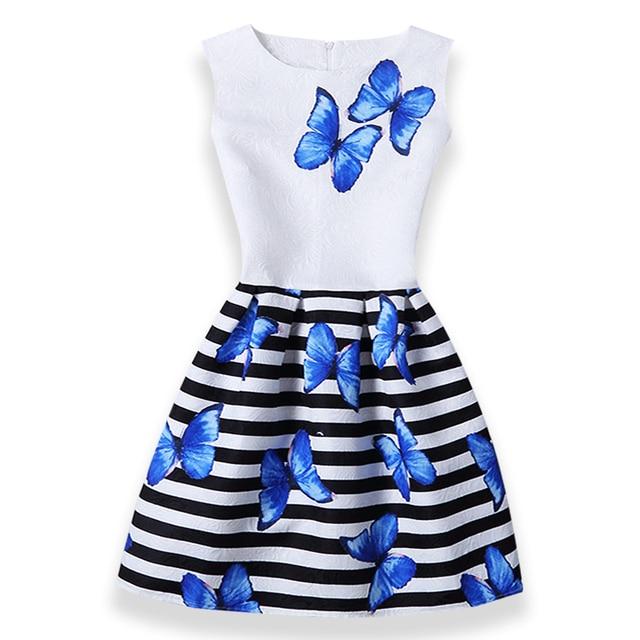 Mädchen Kleider Für Mädchen Schmetterling Floral Print Jugendliche ...