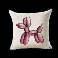 Balloon Dog Sofa Decorative Cushion Cartoon Seat Cushion Chair Home Decor Pillow Pillowcase 44*44 Pillow R1180