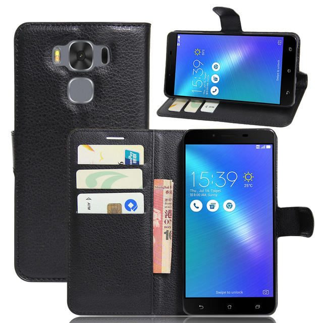 hot sale online 9618e 2fb81 US $3.99 |CASEISHERE Luxury Leather Flip Case for Asus Zenfone 3 Max  ZC553KL 5.5 inches Smartphone Wallet Stand Cover With Card Holder-in Wallet  Cases ...