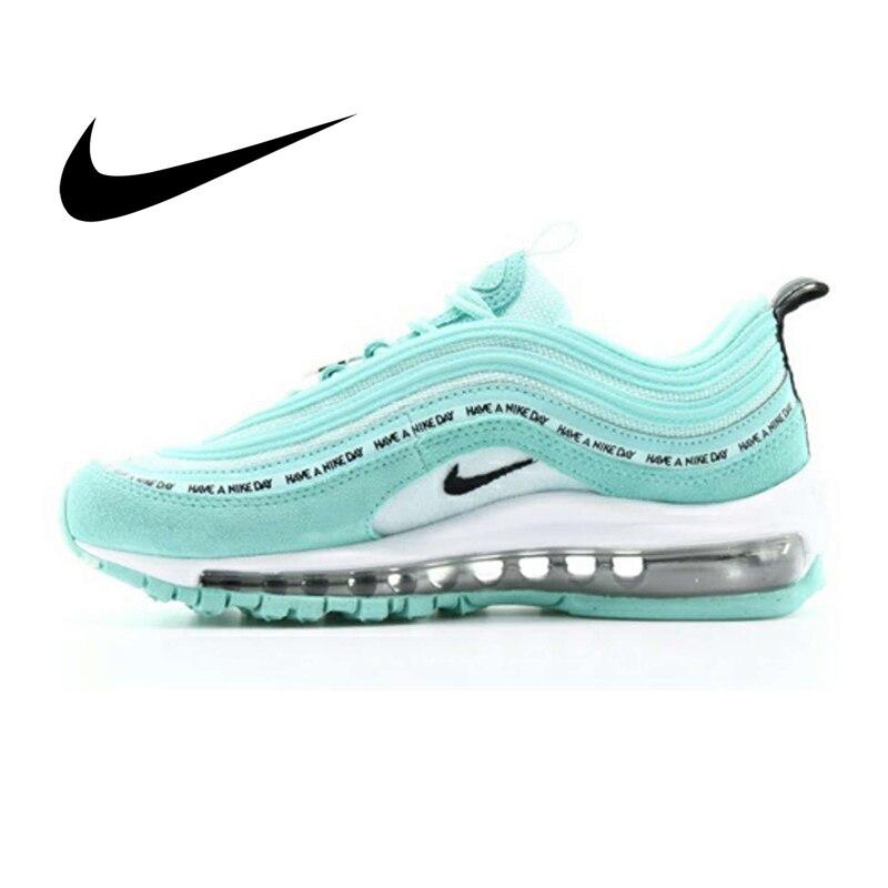 € 50.84 64% de DESCUENTO|Original auténtico Nike Air Max 97 zapatillas de correr para mujer moda clásica deportes al aire libre zapatos transpirables