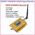 Pantalla LCD! GSM Repetidor 850 MHz CDMA Mobile amplificador de Señal de Refuerzo Repetidor GSM teléfono Celular amplificador inalámbrico con antena de interior