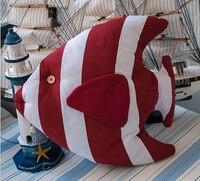 Miễn phí Vận Chuyển! Hình Dạng Cá Ghế Đệm Cotton Mềm Mại Gối Ghế Sofa Đệm Đệm với filler Red Blue Màu